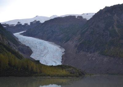 Salmon Glacier in the american  national park in Hyder Alaska