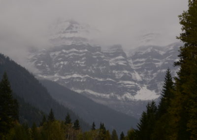 Mt. Robson BC on a wet fall day