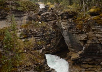 Near Sunwapta falls BC -- flowing water like this  is very loud and powerful