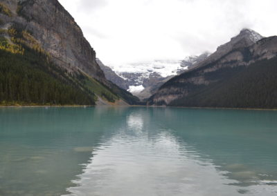 Lake Louise beautiful  and heavily visited by tourists from around the world