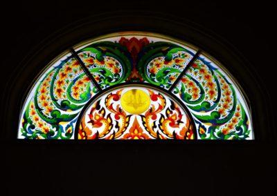 Stain glass window Roi Et temple